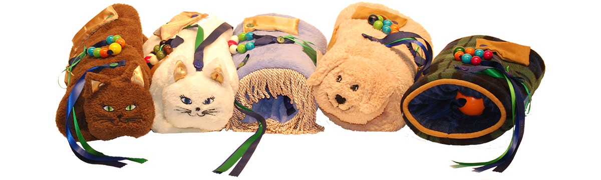 Twiddle Muffs all in a row. The five different Twiddle Muff s together for your inspection.