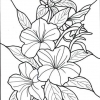 TROPICAL FLOWERS STAINED GLASS COLORING BOOK