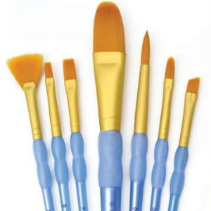 GOLDEN TAKLON VARIETY PAINT BRUSH SET-0