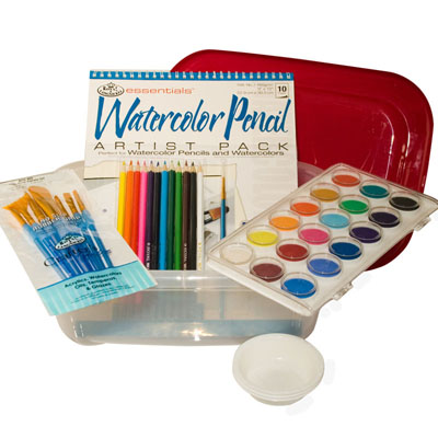 This Watercolor Art Kit provides the basics for your Art Therapy for Alzheimer's program