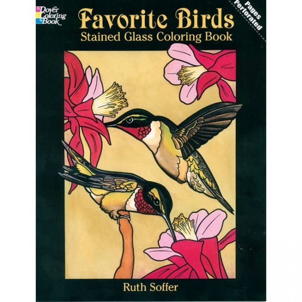 FAVORITE BIRDS STAINED GLASS COLORING BOOK