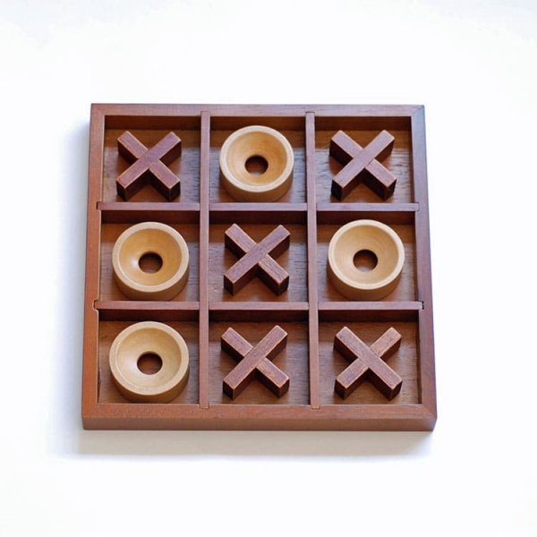 Tic-Tac-Toe Wooden Game for Alzheimer's