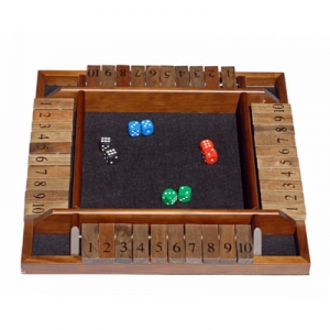 4 Player Shut the Box Game