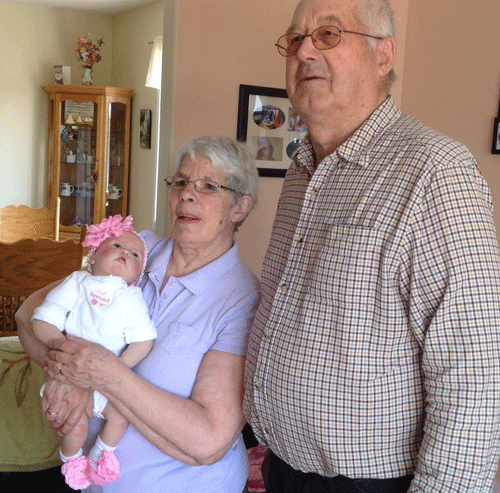 Doll therapy for Alzheimer's disease| Elaine's mother and her baby doll Eva.