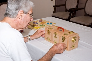 Stage- and age-appropriate activities for Alzheimer's/dementia. It is more important to match the activity to an individual's ability than his or her age.