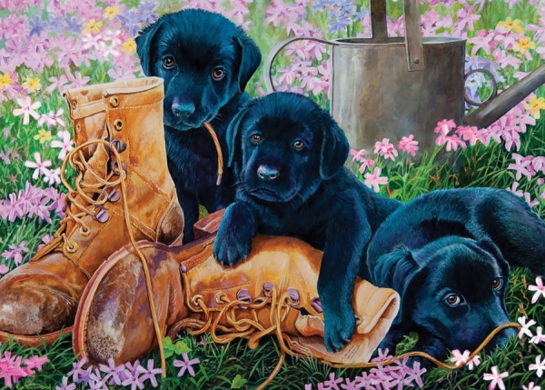35 Piece Puzzles for Alzheimer's | Black Lab Puppies