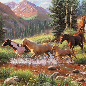 HORSE STREAM - 35 Piece Tray Puzzle-0