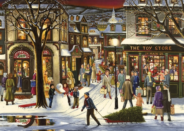 DOWNTOWN CHRISTMAS - 35 Piece Tray Puzzle-0