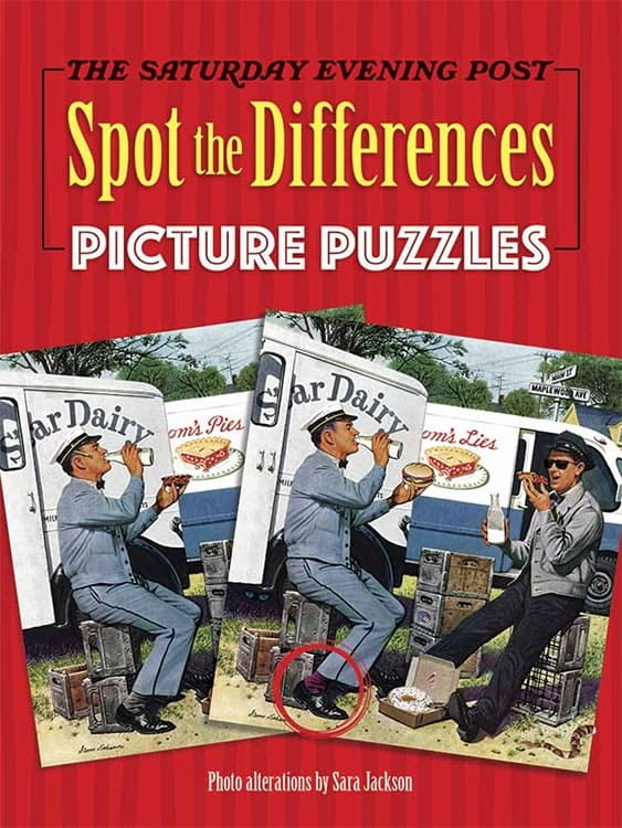 Saturday Evening Post Spot the Differences Picture Puzzles Book