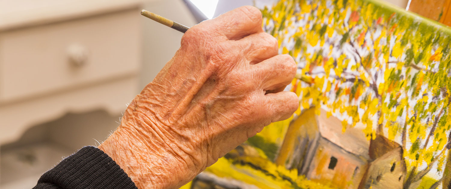 Art therapy - creating art as dementia therapy