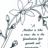 Mother's Bouquet Adult Coloring Book for Seniors - sample page