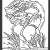 Audubon Birds Stained Glass Coloring Book for Seniors - sample page