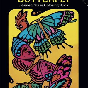 Sea Life Stained Glass Coloring Book for Seniors - cover
