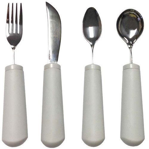 WEIGHTED BENDABLE UTENSIL SET (4 PC)-0
