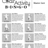 The Chair Activity Bingo Game Master List of Exercises
