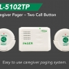 Two nurse call buttons with wireless caregiver pager