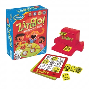 Games for dementia patients - Zingo is a good example of a game designed for kids that is stage-appropriate for many Alzheimer's patients.