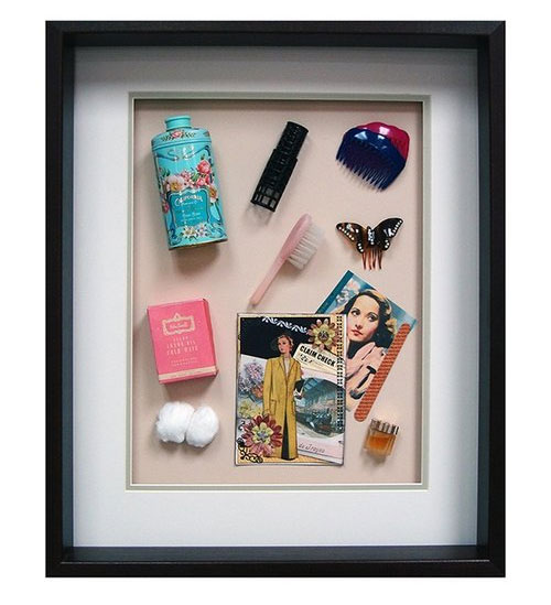 Yesterday's Windows - Beauty   Memorabilia themed shadowboxes to inspire reminiscing in dementia patients.