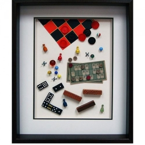 Yesterday's Windows - Board Games | Memorabilia themed shadowboxes to inspire reminiscing in Alzheimer's patients.