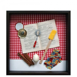 Yesterday's Windows - Cooking | Memorabilia themed shadowboxes to inspire reminiscing in Alzheimer's patients.