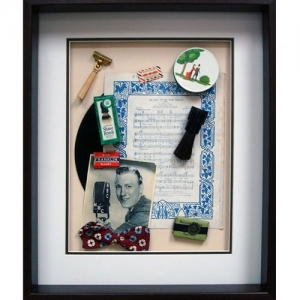 Yesterday's Windows - Grooming | Memorabilia themed shadowboxes to inspire reminiscing in dementia patients.