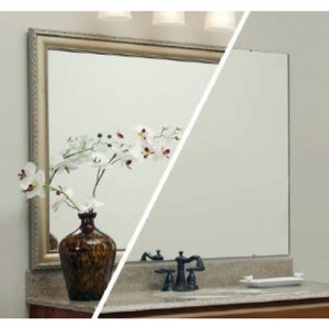This wholesale frameless mirror is manufactured at exceptional cost per square foot. Frameless mirrors can be orded in any size and will include polished edges and installation hardware.