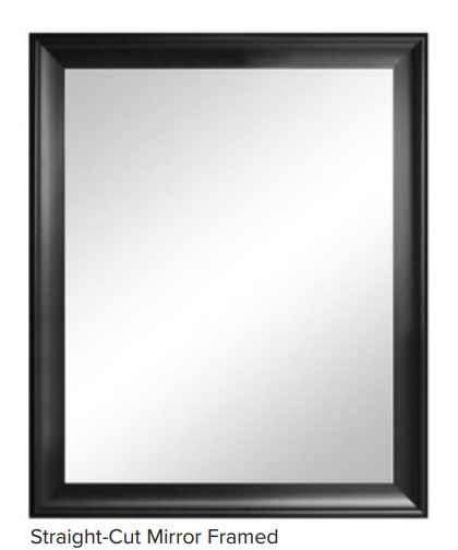 Framed mirror for care communities, facilities, and commercial application - non-beveled