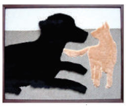 Tactile Art Dog & Cat - Our Tactile line, each piece with a familiar theme, begins with touchable art that is handcrafted from a wide variety of textiles .