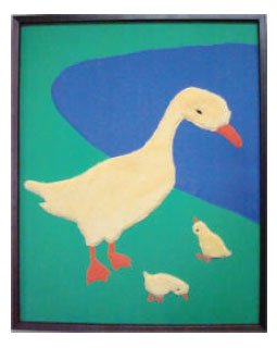 Tactile Art Duck - Our Tactile line, each piece with a familiar theme, begins with touchable art that is handcrafted from a wide variety of textiles .