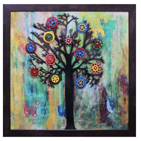 Gear Tree Activity Board - tactile art for memory care and dementia patients