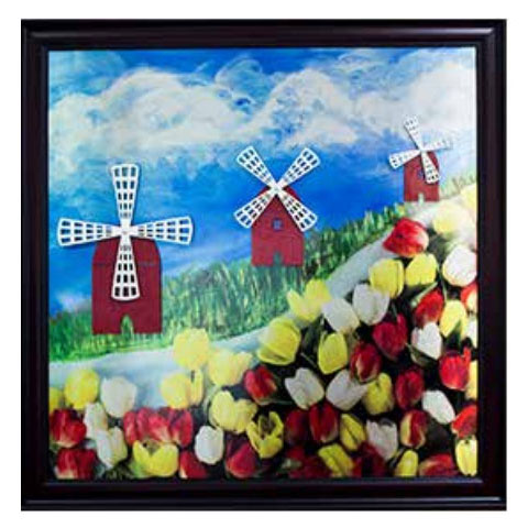 Windmill Activity Board - tactile art for memory care and Alzheimer's patients
