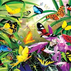 Butterflies 30 piece jigsaw puzzle for dementia