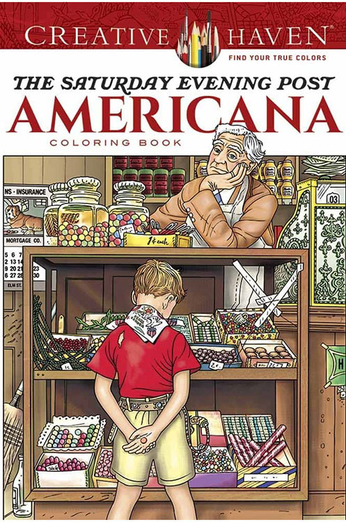 ACTIVITY BOOKS FOR DEMENTIA CARE - Saturday Evening Post Americana Coloring Book