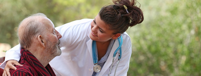 Medical professionals in dementia care.