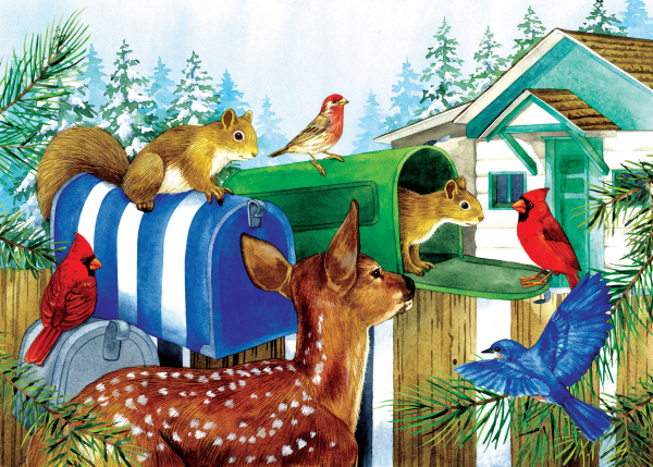 Puzzles for Alzheimer's and dementia patients | Mailboxes - 15 pieces