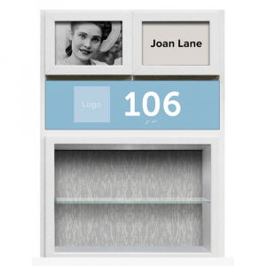 This Profile Panel resident shadow box created to include the most important factors in room recognition