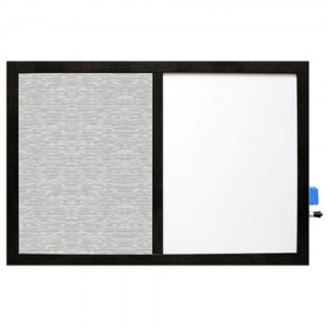 The Split Bulletin Board with a built in compartment for marker + eraser